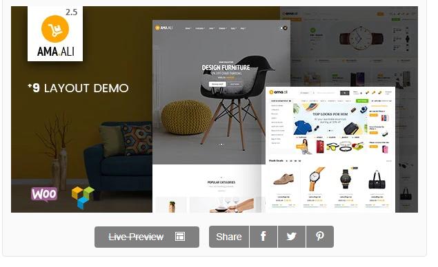Ama.Ali - Market Furniture Shop WooCommerce WordPress Theme