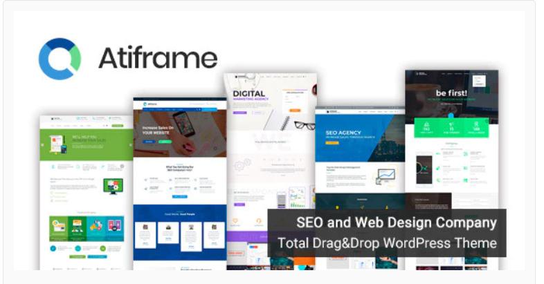 Atiframe - SEO and Web Design Company WordPress Theme