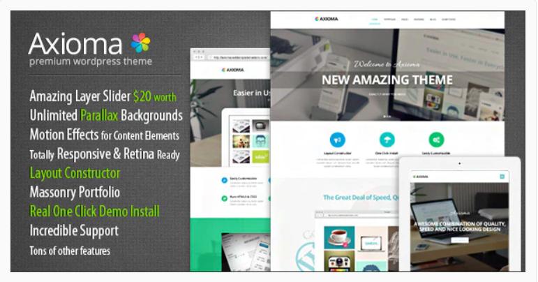 Axioma | Responsive WP Theme for SEO and Web-design Agencies