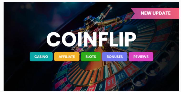 Coinflip - Casino Affiliate & Gambling WordPress Theme
