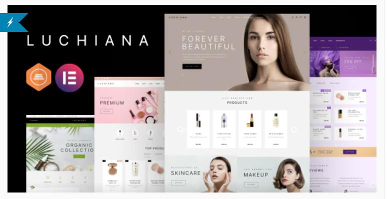 Luchiana - Cosmetics Store & Beauty Shop WooCoomerce Theme