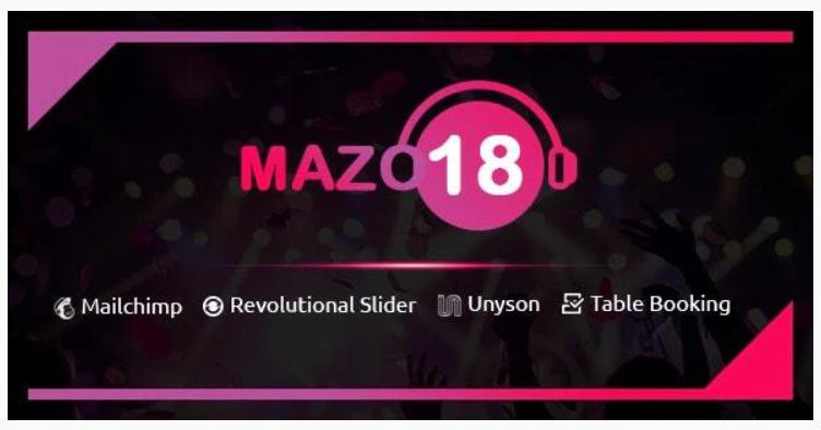 Mazo18 Night Club WordPress Theme