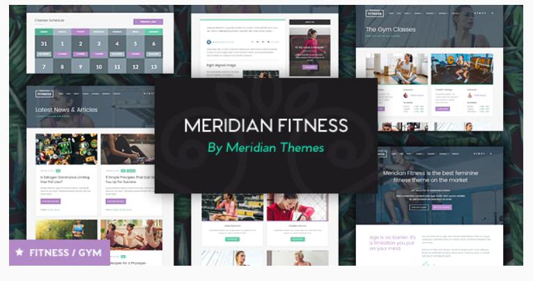 Meridian Fitness - Fitness, Gym, & Sports WordPress Theme