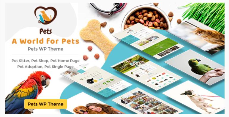 Best Pet Shop WordPress Themes | Veterinary WordPress Theme