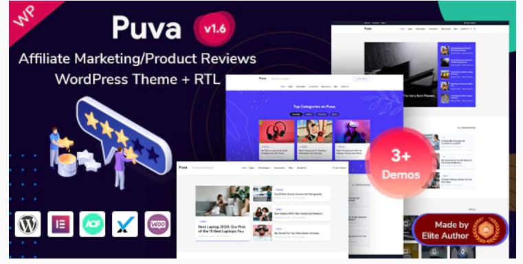 Puva - Affiliate Product Reviews WordPress Theme