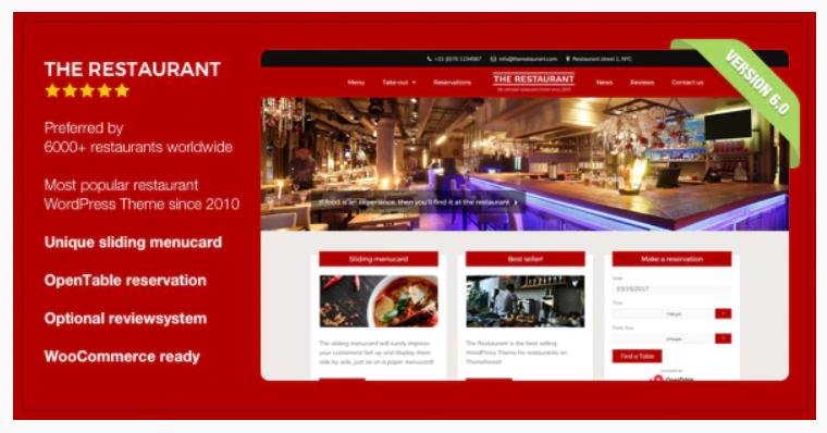 The Restaurant WordPress Theme