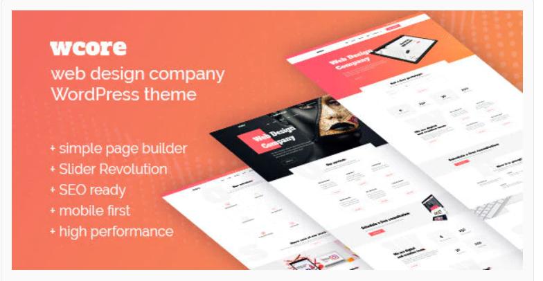 wCore - Web Design Agency WordPress Theme